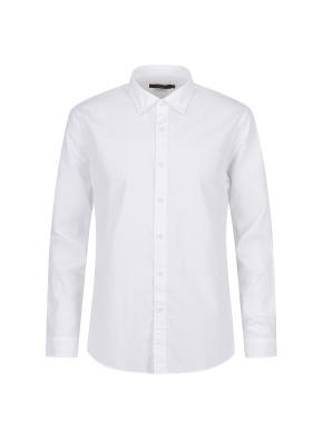 순면 멜란지 솔리드 캐주얼셔츠