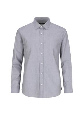순면 필라필 솔리드 캐주얼셔츠 (BK)