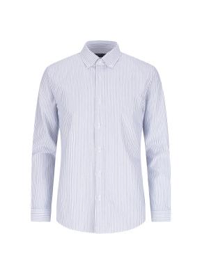 옥스포드 스트라이프 버튼다운 캐주얼셔츠 (BL)
