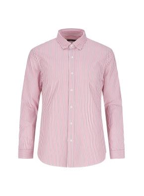 포플린 런던스트라이프 캐주얼셔츠 (RD)
