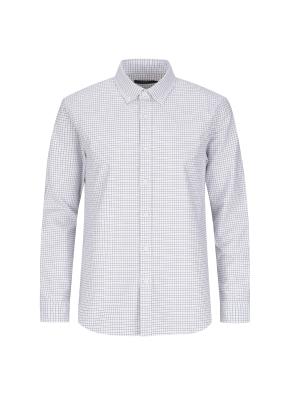 옥스포드 깅엄체크 버튼다운 캐주얼셔츠 (KH)