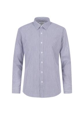 면혼방 스트라이프 드레스셔츠