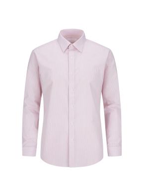 면혼방 스트라이프 드레스셔츠 (PK)