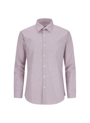스트레치 면혼방 체크 드레스셔츠 (RD)