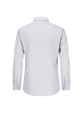스트레치 면혼방 투톤체크 드레스셔츠