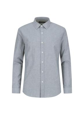 마혼방 솔리드 캐주얼셔츠 (GN)