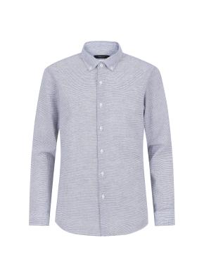 마혼방 니플 스트라이프 캐주얼셔츠 (NV)