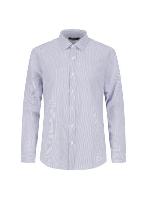 아이스코튼 스트라이프 캐주얼셔츠 (NV)