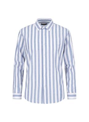 마혼방 볼드스트라이프 캐주얼셔츠 (BL)