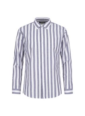 마혼방 볼드스트라이프 캐주얼셔츠 (NV)