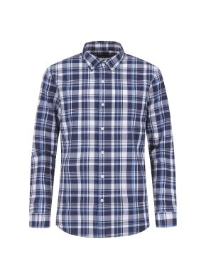 아이스코튼 체크 캐주얼셔츠 (BL)