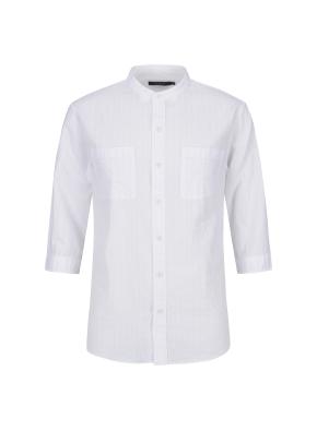 순면 서커 도비 칠부 캐주얼셔츠 (WT)