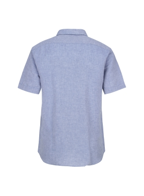 마혼방 필라필 솔리드 반팔 캐주얼셔츠 (BL)