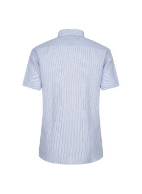 마혼방 솔리드 반팔 캐주얼셔츠 (BL)