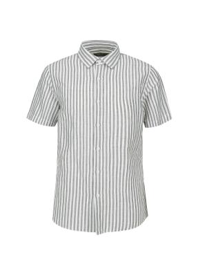 마혼방 런던스트라이프 반팔 캐주얼셔츠 (KH)