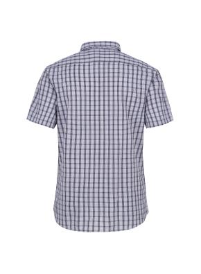 아이스코튼 체크 반팔 캐주얼셔츠 (NV)