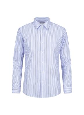 면혼방 스트라이프 드레스셔츠 (BL)