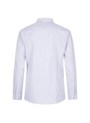 스트레치 면혼방 스트라이프 드레스셔츠 (BL)
