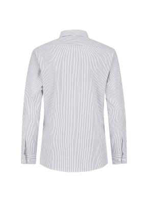 스트레치 면혼방 스트라이프 드레스셔츠 (GR)