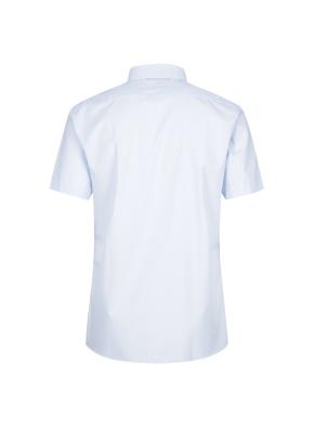 면혼방 솔리드 반팔 드레스셔츠 (BL)