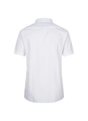 면혼방 솔리드 반팔 드레스셔츠 (WT)