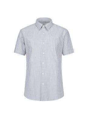 스트레치 면혼방 슬러브 스트라이프 반팔 드레스셔츠 (KH)