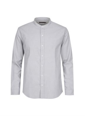 옥스포드 조직 헨리넥 베이직 셔츠 (GR)