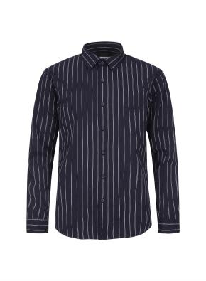 더블핀 스트라이프 패턴 셔츠