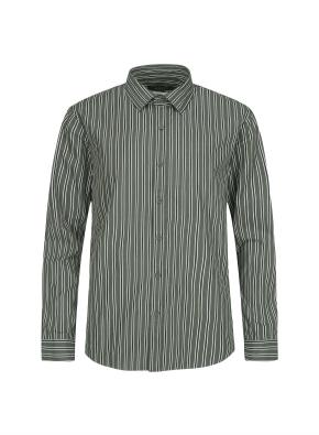 톤다운 멀티 스트라이프 셔츠 (KH)