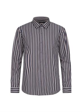 톤다운 멀티 스트라이프 셔츠 (NV)