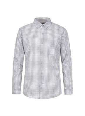 멜란지 깅엄체크 캐쥬얼 셔츠 (GR)