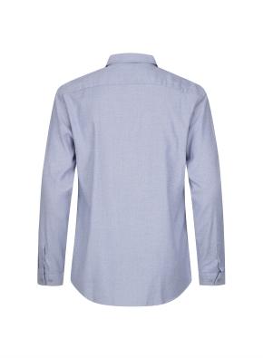 트위스트 멜란지 기모 캐쥬얼 셔츠 (BL)