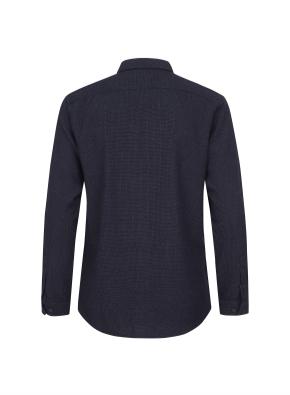 와플 조직 캐쥬얼 기모 셔츠 (NV)