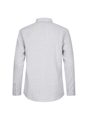 와플 조직 캐쥬얼 기모 셔츠 (WT)