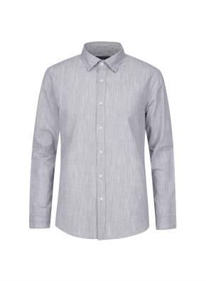 슬럽사 조직 캐쥬얼 기모 셔츠