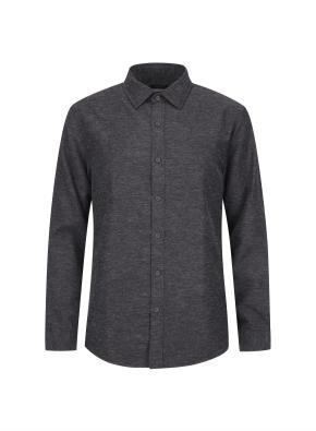 린넨혼방 캐쥬얼 기모 셔츠 (GR)