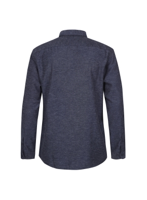 린넨혼방 캐쥬얼 기모 셔츠 (NV)
