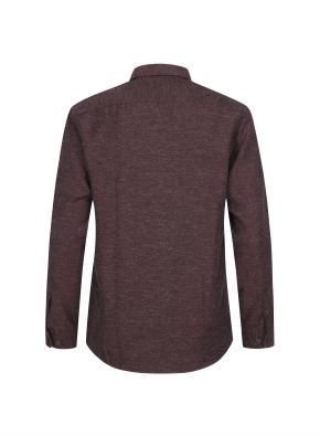 린넨혼방 캐쥬얼 기모 셔츠 (WN)