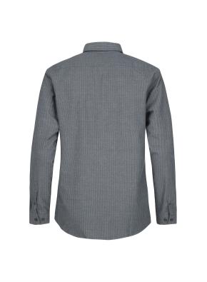 핀스트라이프 패턴 캐쥬얼 셔츠 (GN)