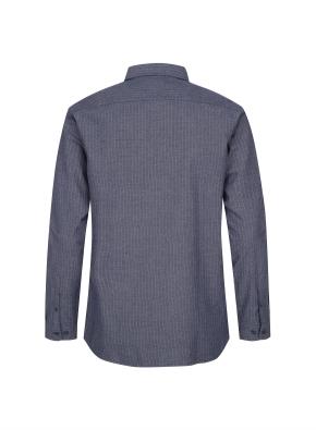 핀스트라이프 패턴 캐쥬얼 셔츠 (NV)