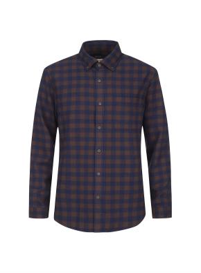 깅엄 체크 포켓 웜터치 셔츠 (NV)