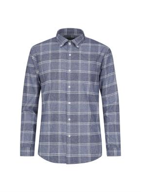 멀티 윈도우 체크 캐쥬얼 기모 셔츠 (NV)