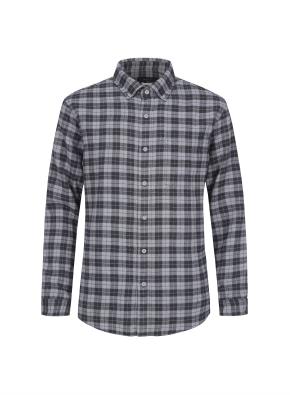 멀티 체크 웜터치 셔츠 (GR)