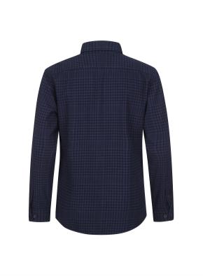 믹스 체크 웜터치 셔츠 (NV)