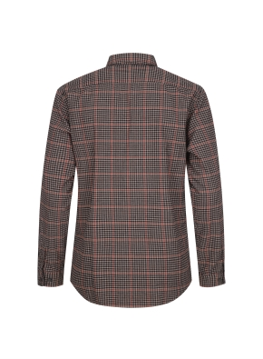 멀티 깅엄체크 패턴 캐주얼 기모 셔츠