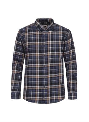 믹스 멀티 체크 웜터치 셔츠 (NV)