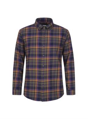믹스 멀티 체크 웜터치 셔츠 (VI)
