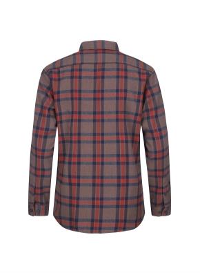 컬러 포인트 체크 웜터치 셔츠 (BR)