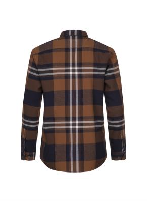 레이온 혼방 빅체크 패턴 셔츠