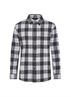 헤비 플란넬 셔츠 (BK)